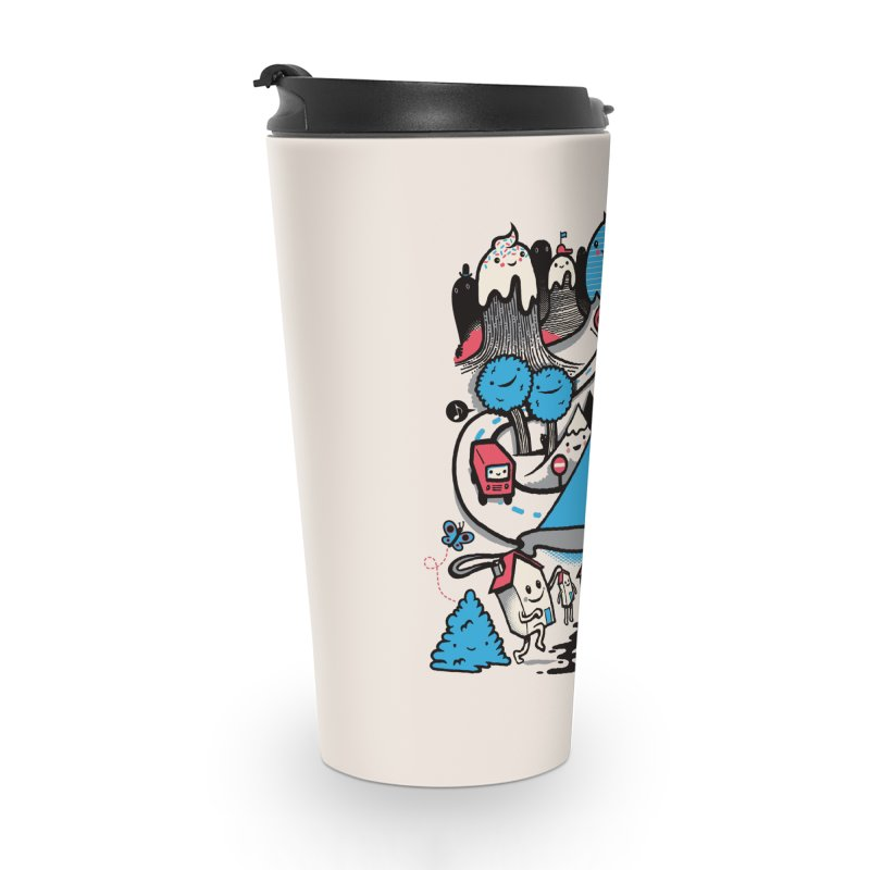 A World Without Humans Accessories Travel Mug by wotto's Artist Shop