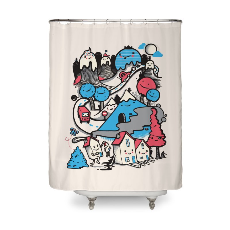 A World Without Humans Home Shower Curtain by wotto's Artist Shop