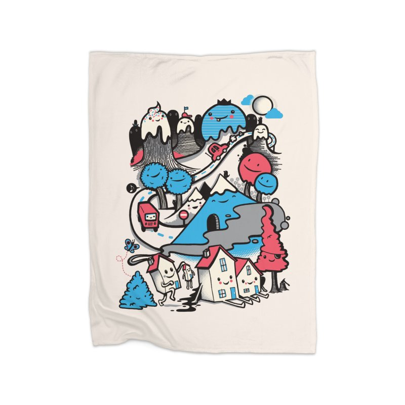 A World Without Humans Home Fleece Blanket Blanket by wotto's Artist Shop