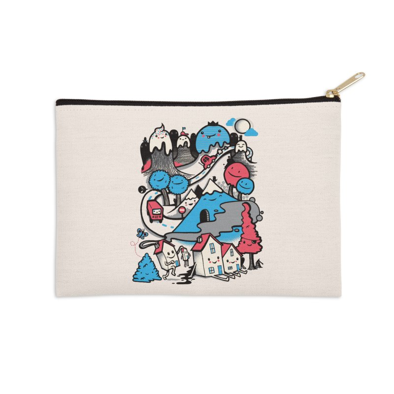 A World Without Humans Accessories Zip Pouch by wotto's Artist Shop