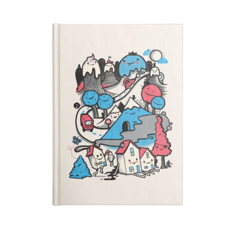 A World Without Humans Accessories Blank Journal Notebook by wotto's Artist Shop