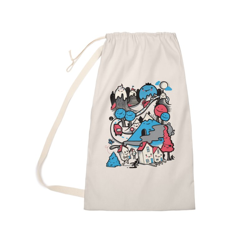 A World Without Humans Accessories Laundry Bag Bag by wotto's Artist Shop