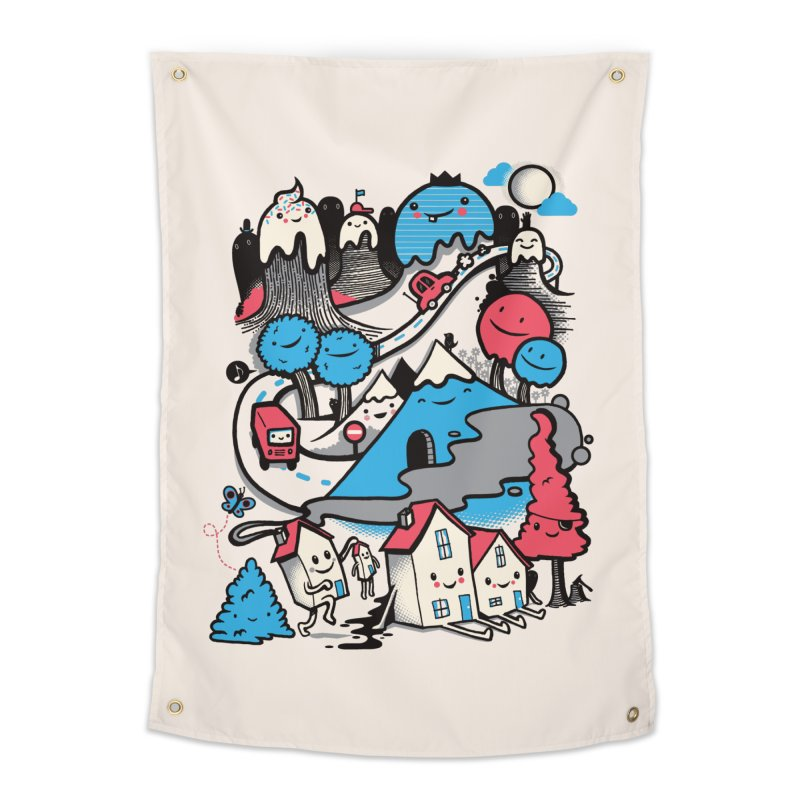 A World Without Humans Home Tapestry by wotto's Artist Shop