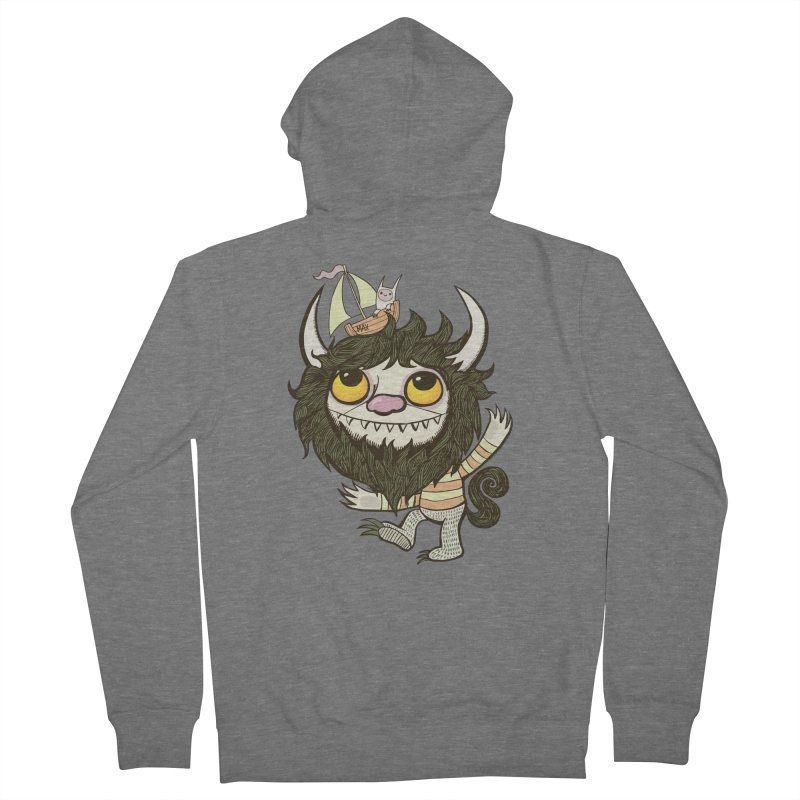 An Ode to the Wild Things Women's French Terry Zip-Up Hoody by wotto's Artist Shop