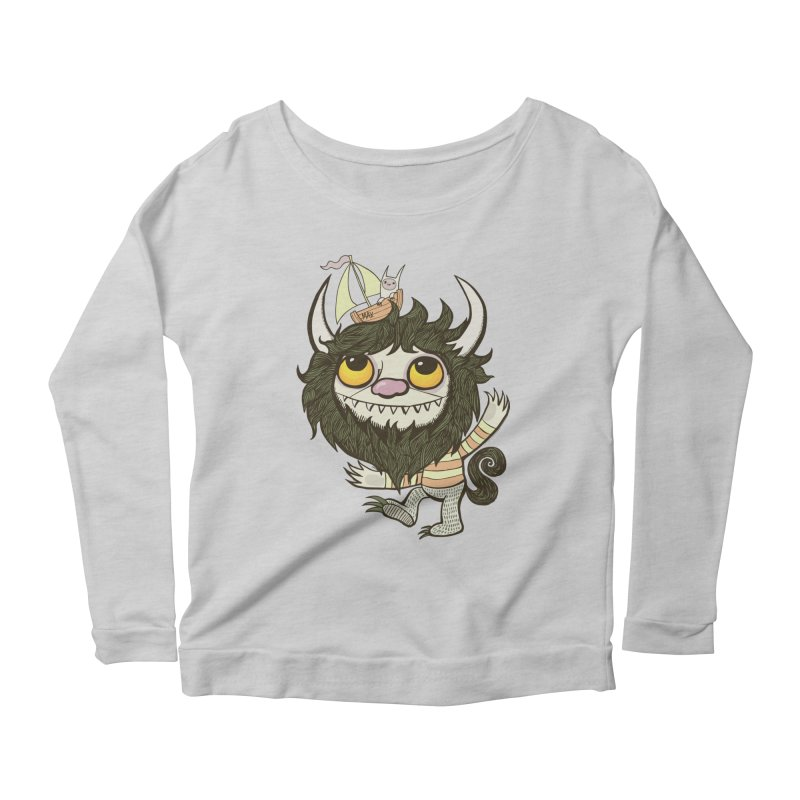 An Ode to the Wild Things Women's Scoop Neck Longsleeve T-Shirt by wotto's Artist Shop