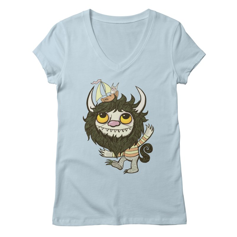 An Ode to the Wild Things Women's V-Neck by wotto's Artist Shop