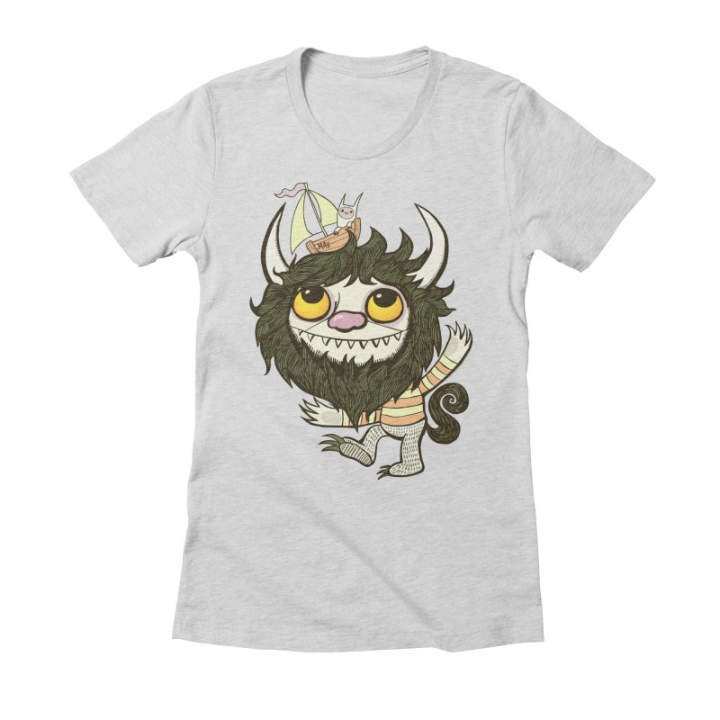 An Ode to the Wild Things Women's Fitted T-Shirt by wotto's Artist Shop