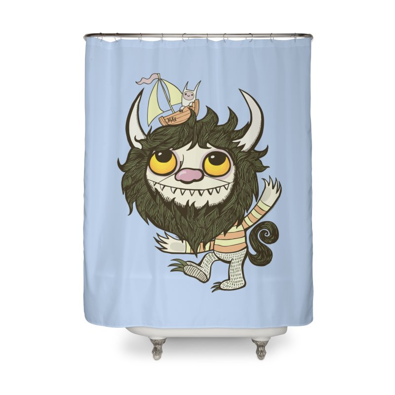 An Ode to the Wild Things Home Shower Curtain by wotto's Artist Shop