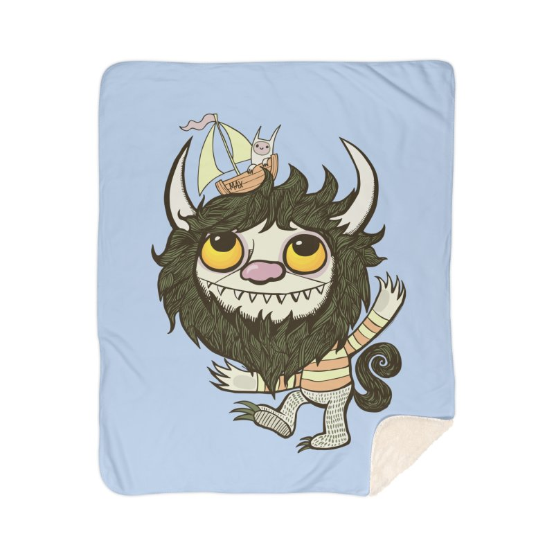 An Ode to the Wild Things Home Sherpa Blanket Blanket by wotto's Artist Shop