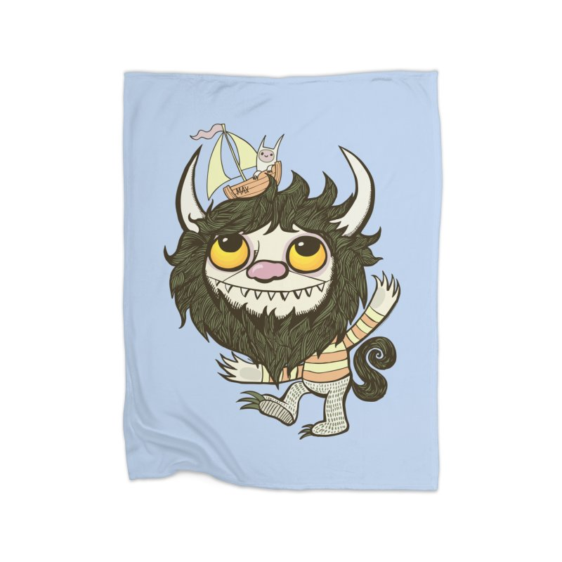 An Ode to the Wild Things Home Fleece Blanket Blanket by wotto's Artist Shop