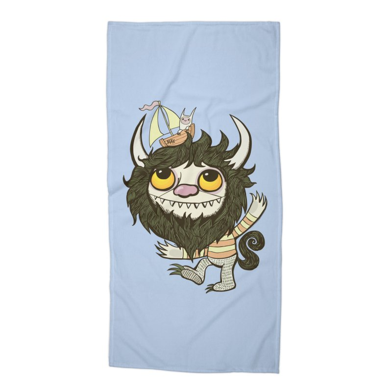 An Ode to the Wild Things Accessories Beach Towel by wotto's Artist Shop