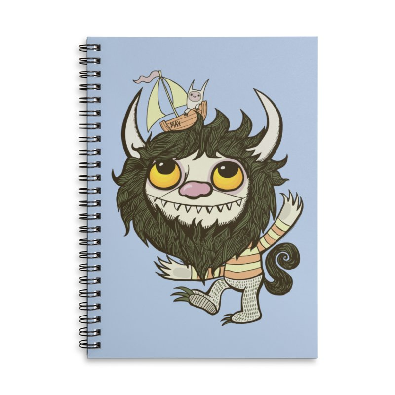 An Ode to the Wild Things Accessories Lined Spiral Notebook by wotto's Artist Shop