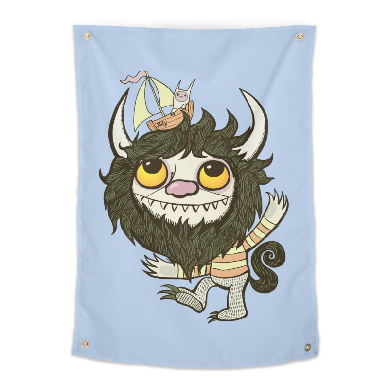 An Ode to the Wild Things Home Tapestry by wotto's Artist Shop