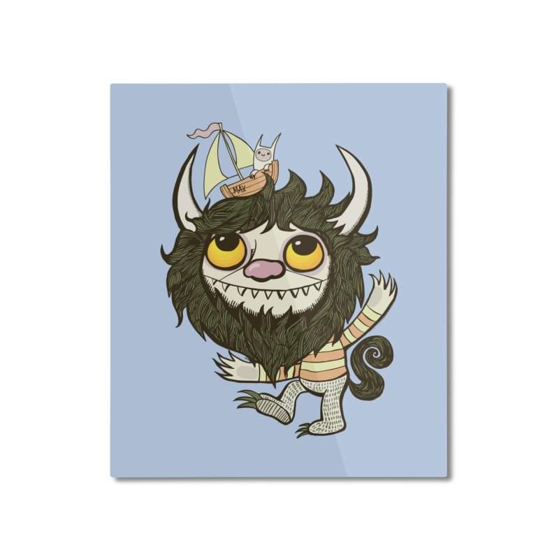 An Ode to the Wild Things Home Mounted Aluminum Print by wotto's Artist Shop