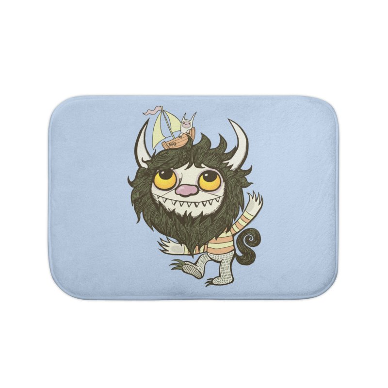 An Ode to the Wild Things Home Bath Mat by wotto's Artist Shop