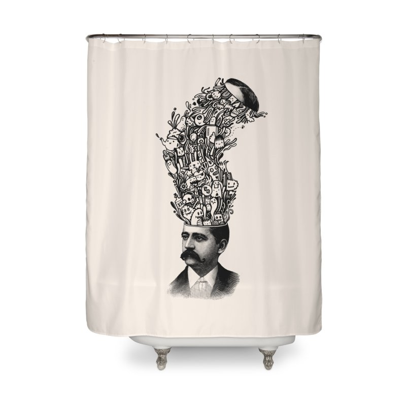 BrainFart Home Shower Curtain by wotto's Artist Shop