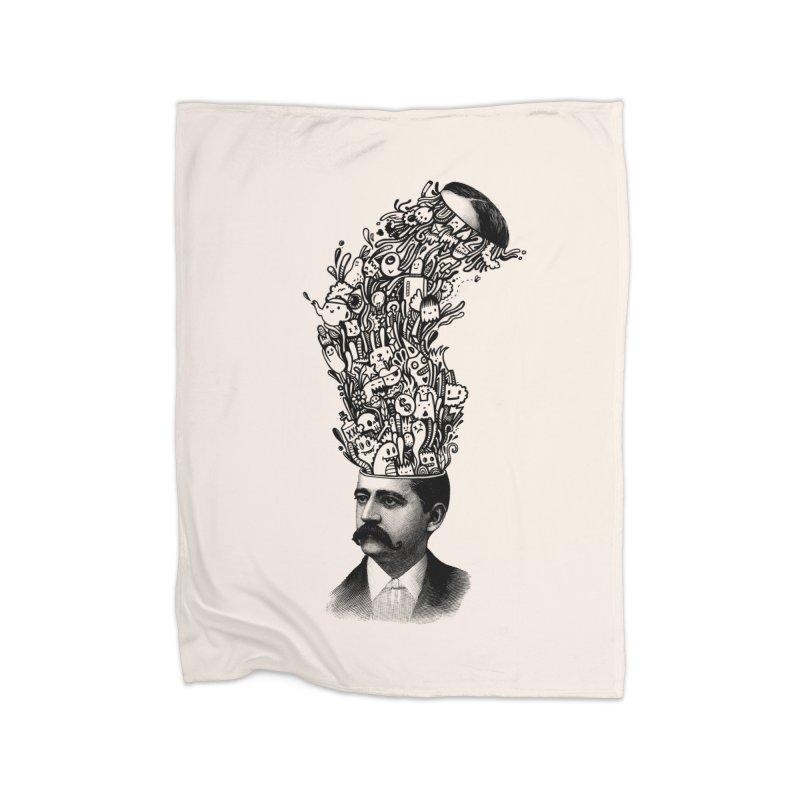 BrainFart Home Fleece Blanket Blanket by wotto's Artist Shop