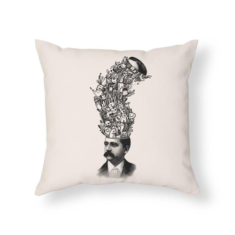 BrainFart Home Throw Pillow by wotto's Artist Shop