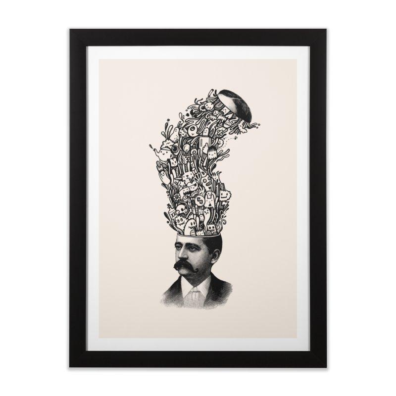 BrainFart Home Framed Fine Art Print by wotto's Artist Shop