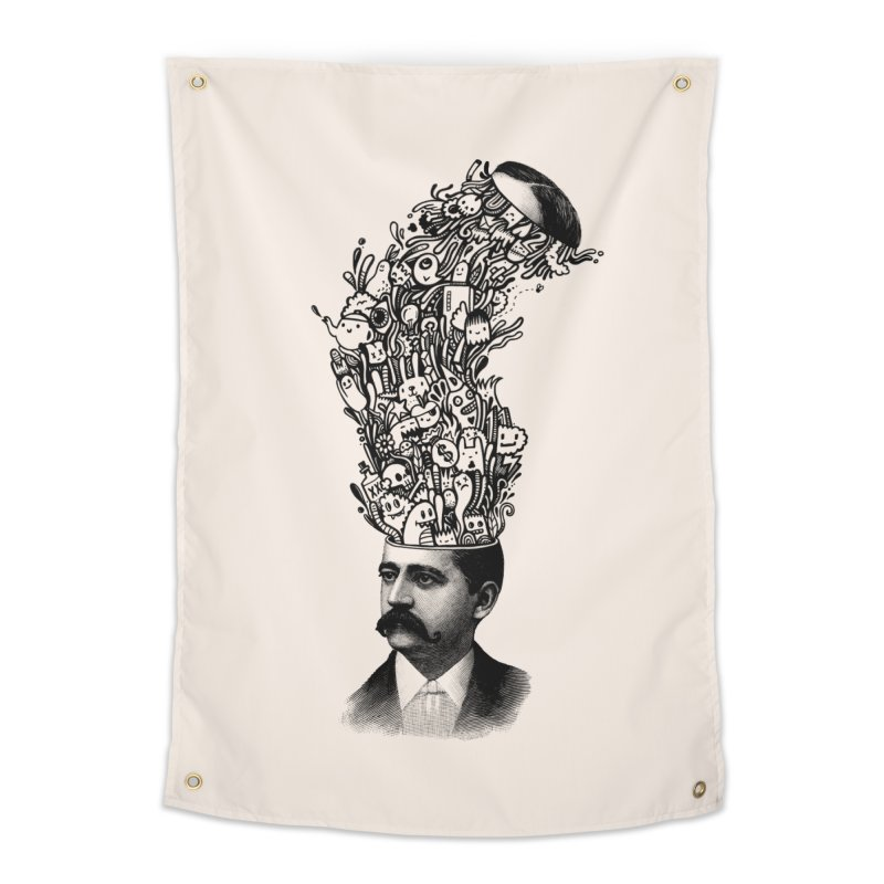 BrainFart Home Tapestry by wotto's Artist Shop