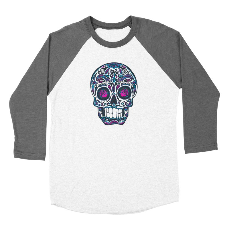 Calavera IV Men's Baseball Triblend Longsleeve T-Shirt by wotto's Artist Shop