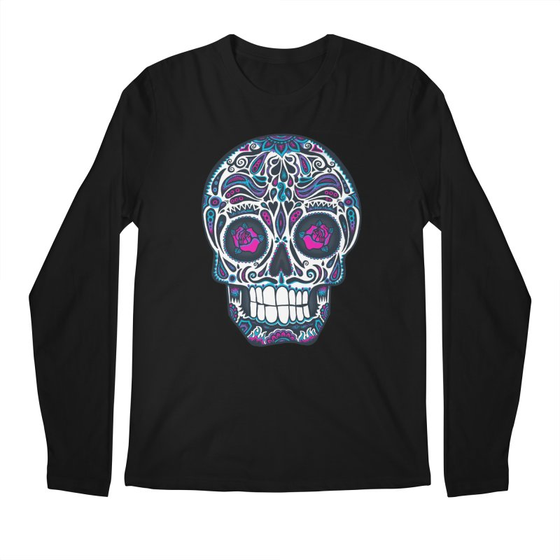 Calavera IV Men's Longsleeve T-Shirt by wotto's Artist Shop