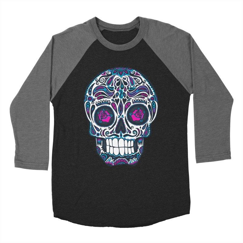 Calavera IV Men's Baseball Triblend T-Shirt by wotto's Artist Shop