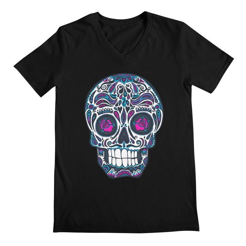Calavera IV Men's V-Neck by wotto's Artist Shop