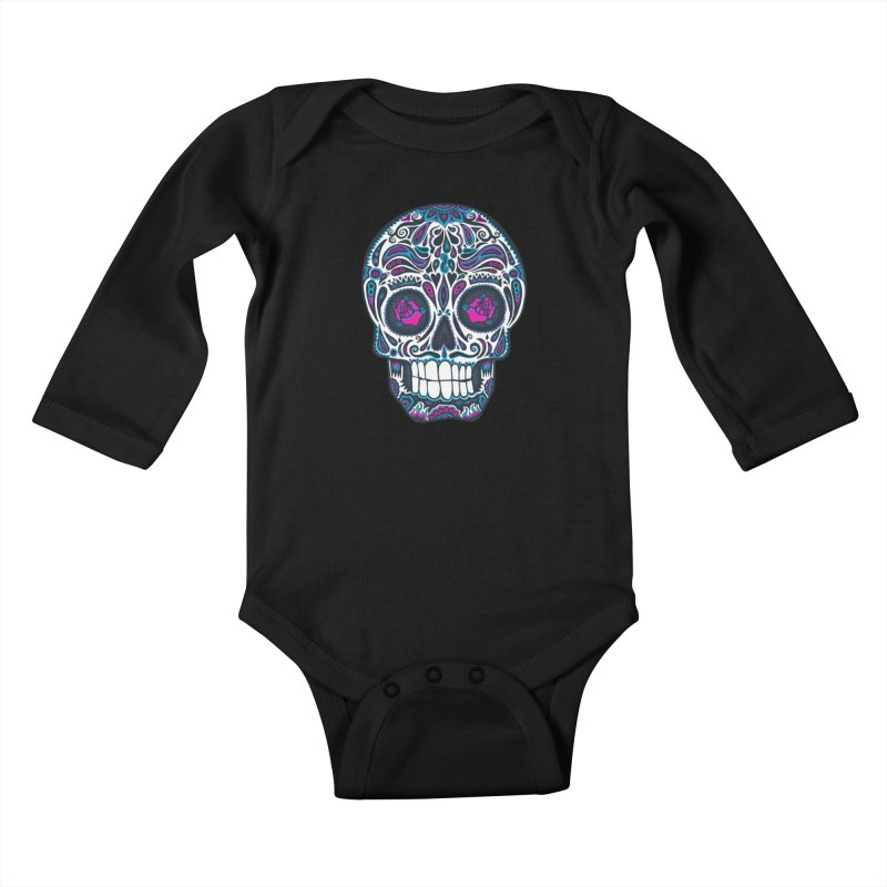 Calavera IV Kids Baby Longsleeve Bodysuit by wotto's Artist Shop