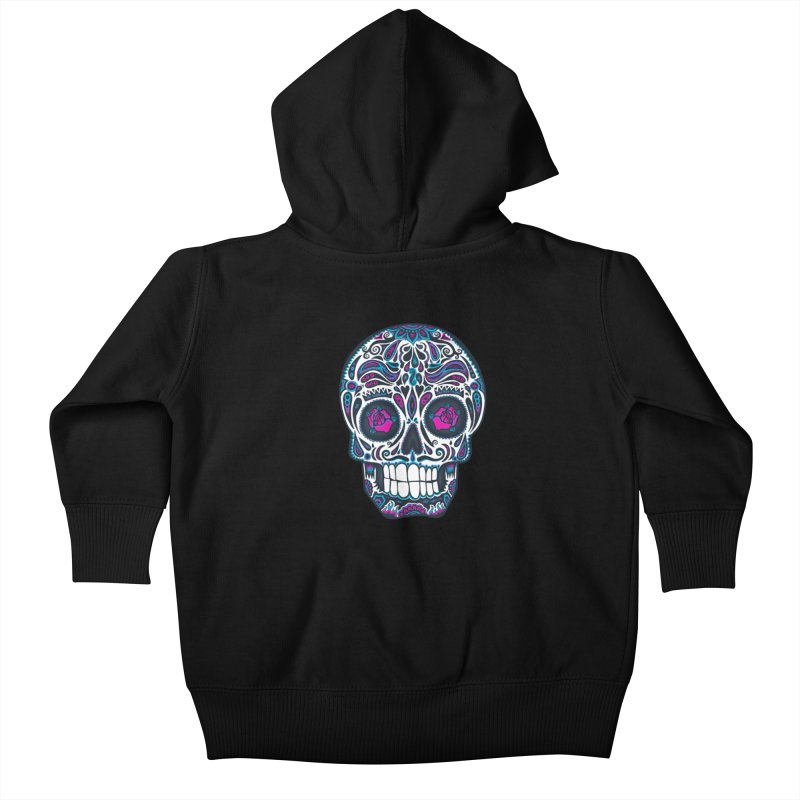 Calavera IV Kids Baby Zip-Up Hoody by wotto's Artist Shop