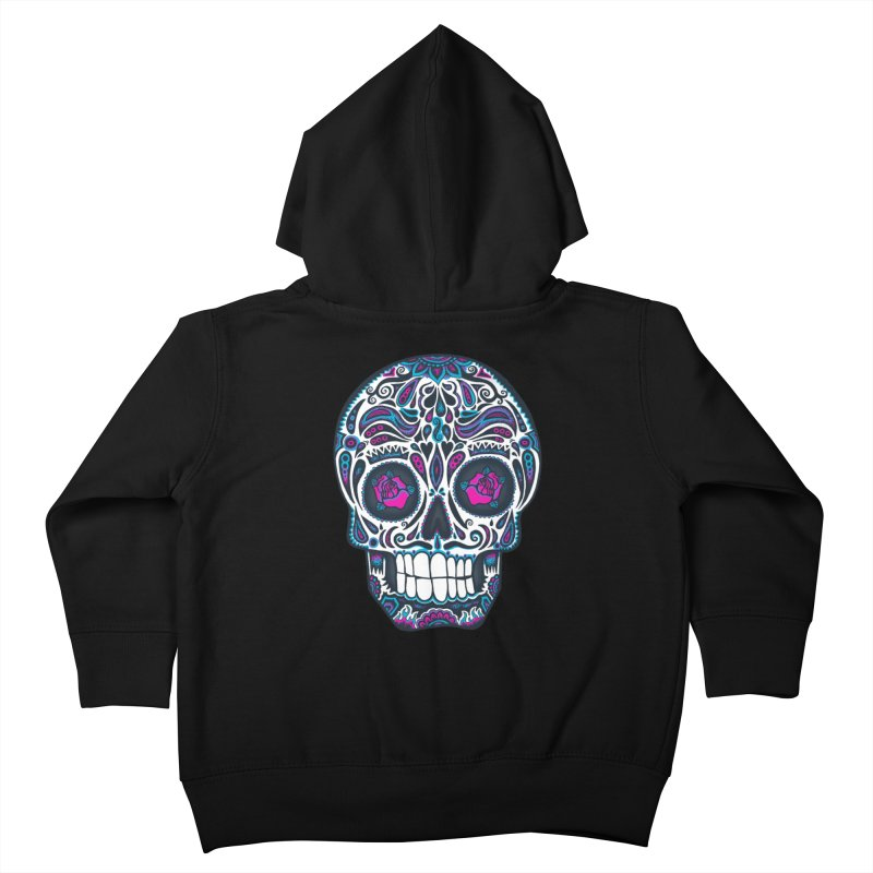 Calavera IV Kids Toddler Zip-Up Hoody by wotto's Artist Shop