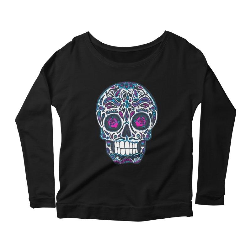 Calavera IV Women's Scoop Neck Longsleeve T-Shirt by wotto's Artist Shop