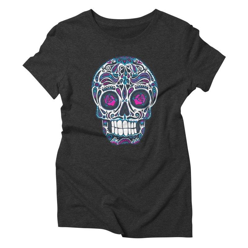 Calavera IV Women's Triblend T-Shirt by wotto's Artist Shop