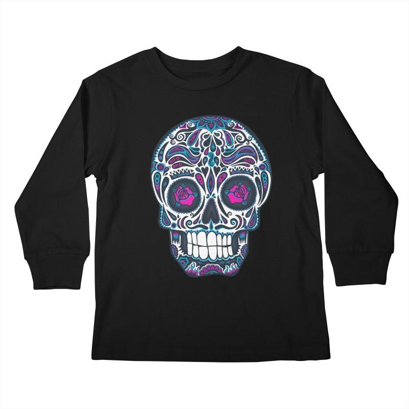 Calavera IV Kids Longsleeve T-Shirt by wotto's Artist Shop