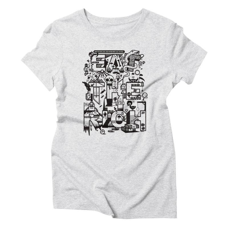 Eat the Rich Women's Triblend T-Shirt by wotto's Artist Shop