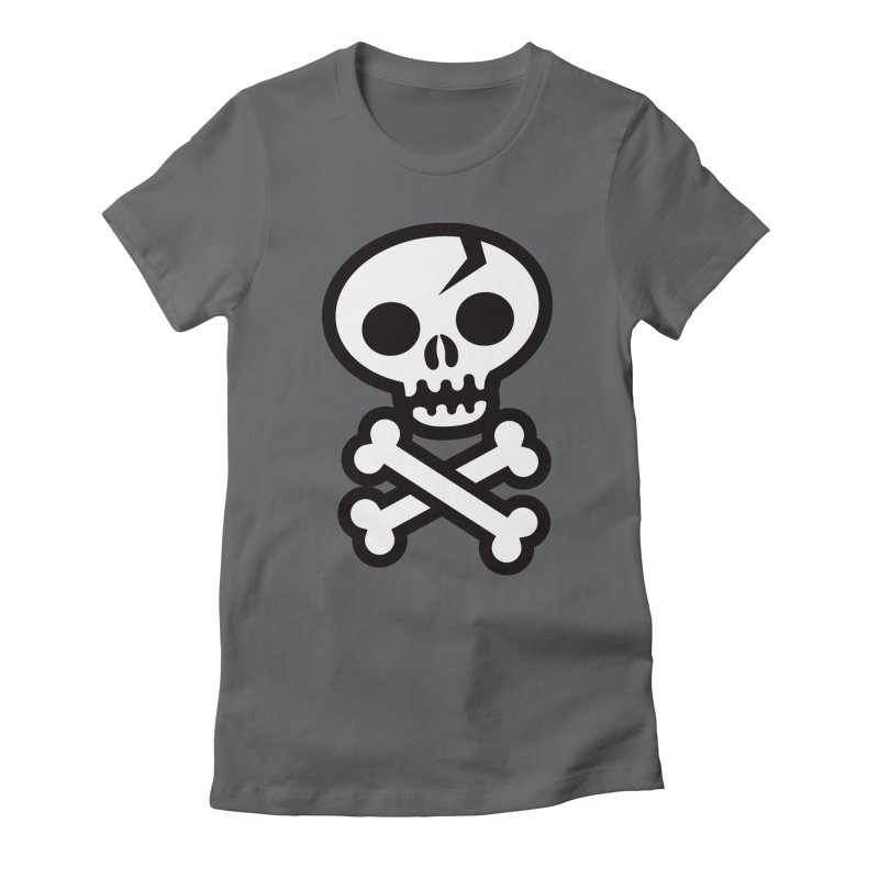 Skull & Crossbones Women's Fitted T-Shirt by wotto's Artist Shop