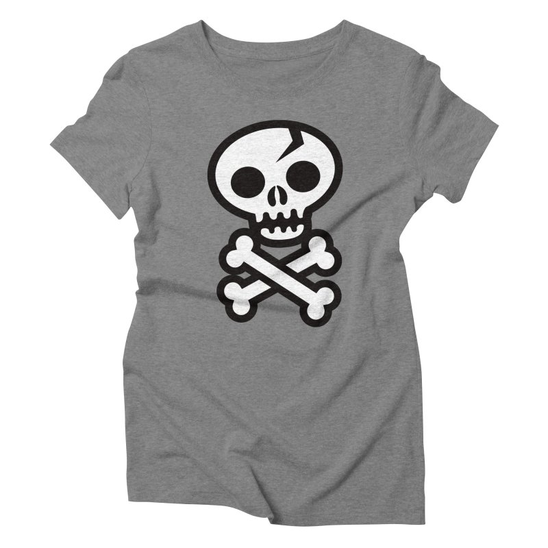 Skull & Crossbones Women's Triblend T-shirt by wotto's Artist Shop