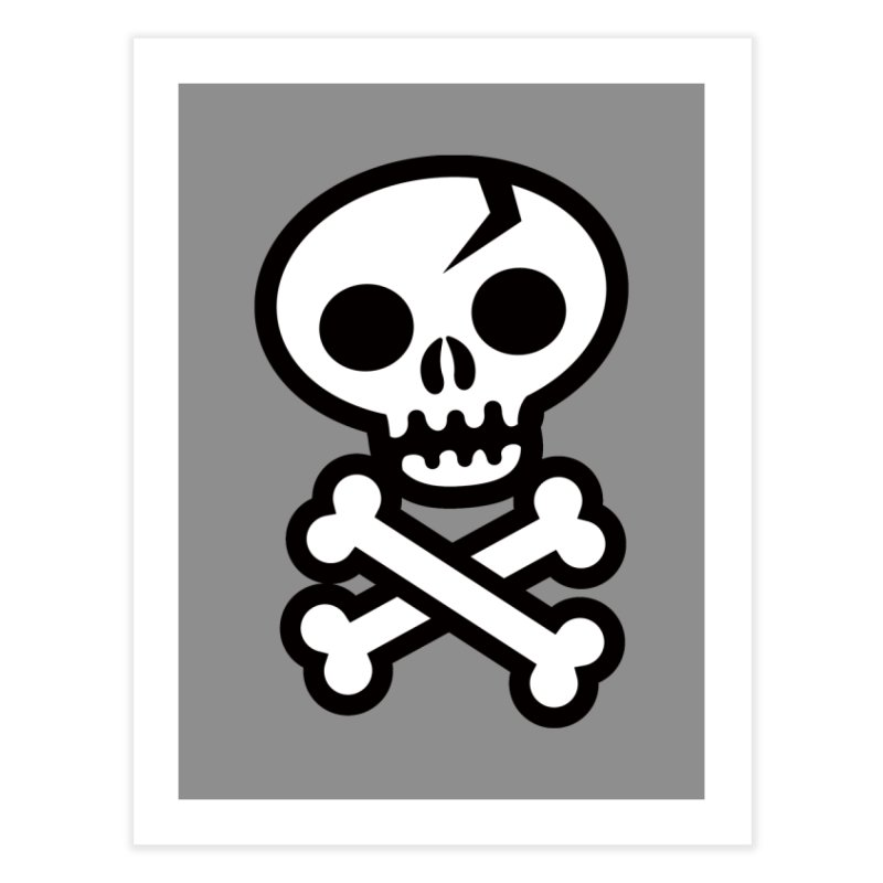 Skull & Crossbones Home Fine Art Print by wotto's Artist Shop