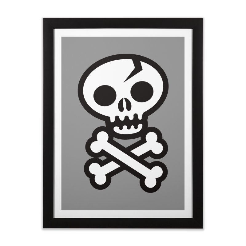 Skull & Crossbones Home Framed Fine Art Print by wotto's Artist Shop