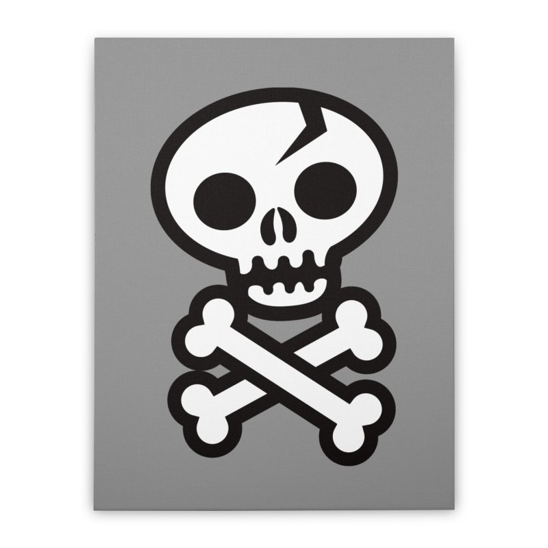 Skull & Crossbones Home Stretched Canvas by wotto's Artist Shop