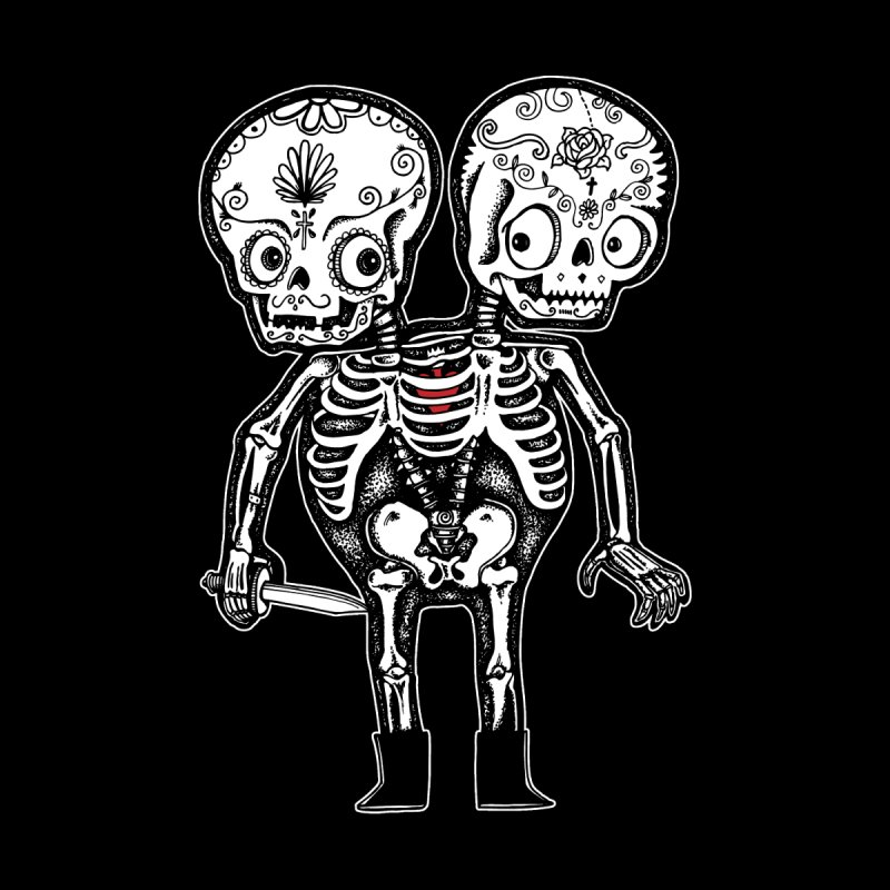 Calavera Twins None  by wotto's Artist Shop