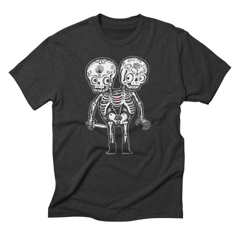 Calavera Twins Men's Triblend T-shirt by wotto's Artist Shop