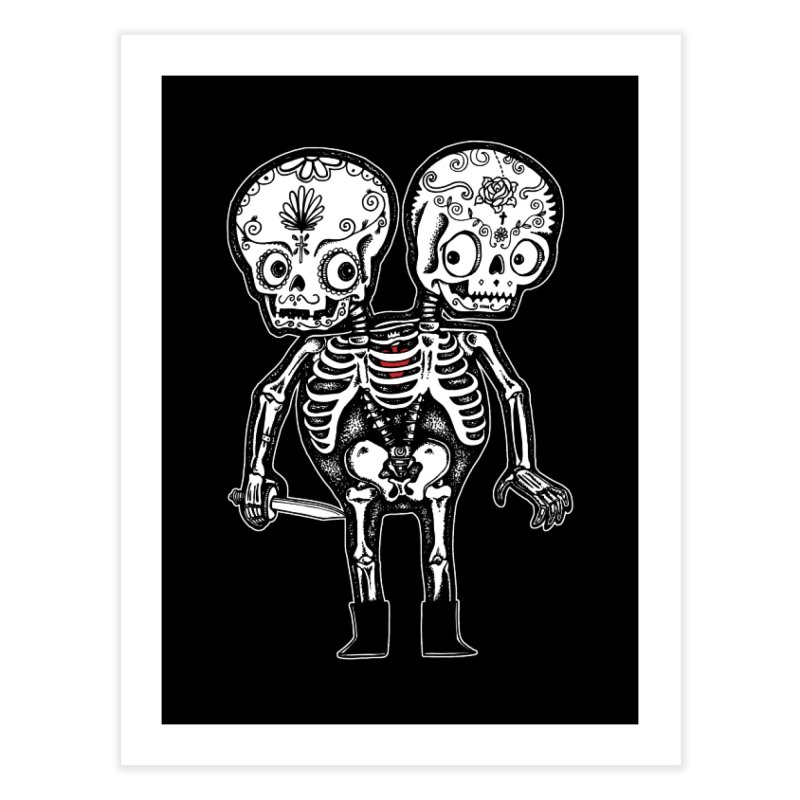 Calavera Twins Home Fine Art Print by wotto's Artist Shop