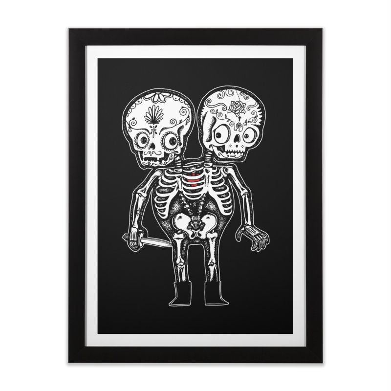 Calavera Twins Home Framed Fine Art Print by wotto's Artist Shop