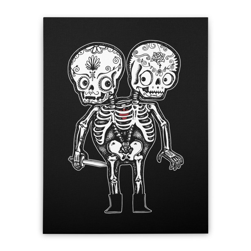 Calavera Twins Home Stretched Canvas by wotto's Artist Shop