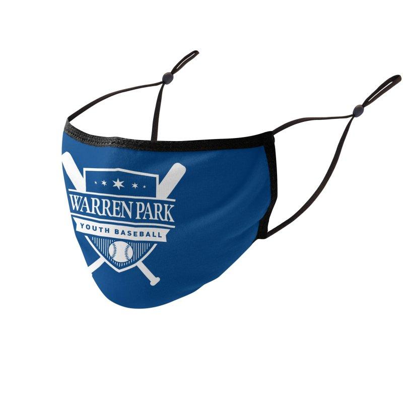 Warren Park Youth Baseball Logo - White Accessories Face Mask by Warren Park Youth Baseball, Rogers Park Chicago