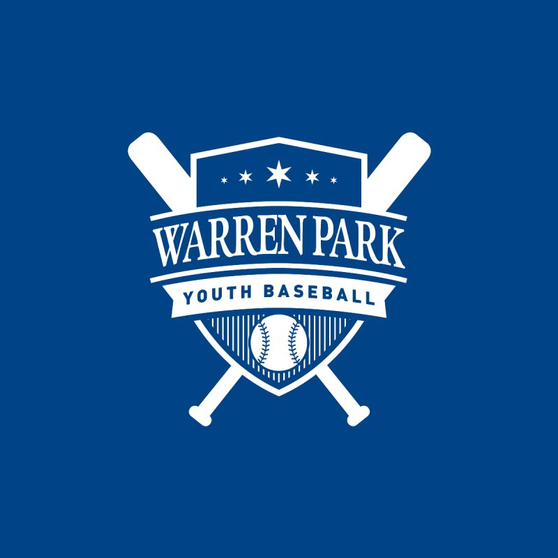 Warren Park Youth Baseball Logo - White Accessories Bag by Warren Park Youth Baseball, Rogers Park Chicago