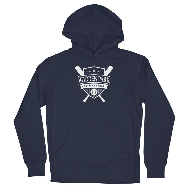 Warren Park Youth Baseball Logo - White in Men's French Terry Pullover Hoody Navy by Warren Park Youth Baseball, Rogers Park Chicago