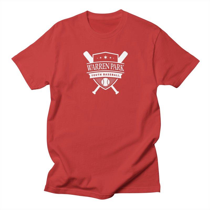 Warren Park Youth Baseball Logo - White Women's Regular Unisex T-Shirt by Warren Park Youth Baseball, Rogers Park Chicago