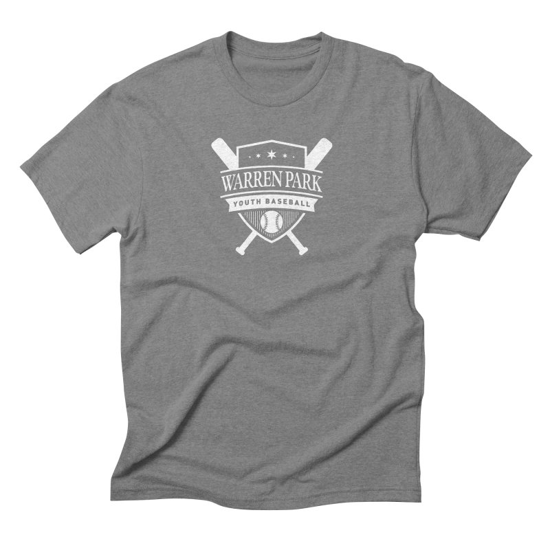 Warren Park Youth Baseball Logo - White Men's Triblend T-Shirt by Warren Park Youth Baseball, Rogers Park Chicago